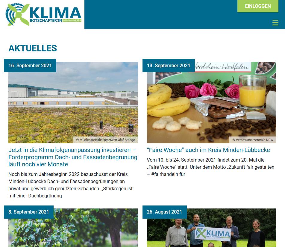 Aktuelles und Veranstaltungen zum Klimaschutz in der Region