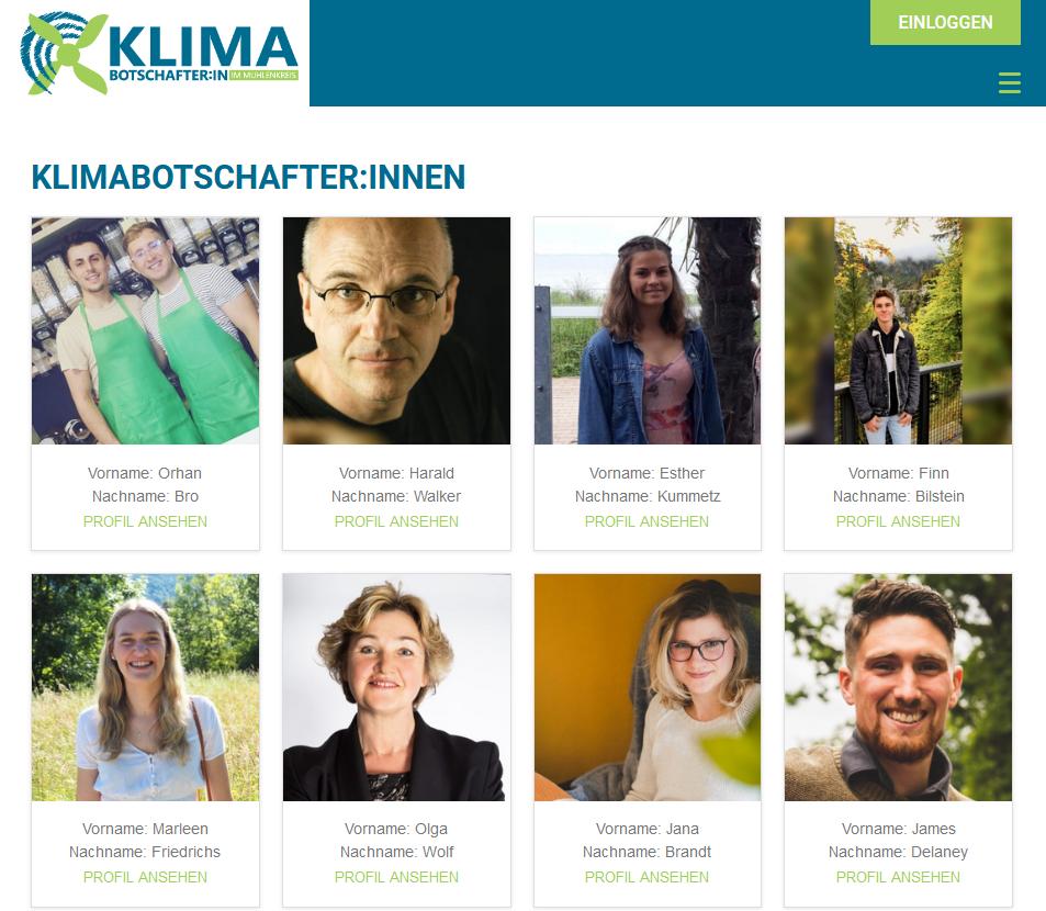 Bürgerinnen und Bürger zeigen Gesicht für den Klimaschutz im Mühlenkreis